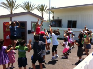 Children in our Fit Club program love to dance!